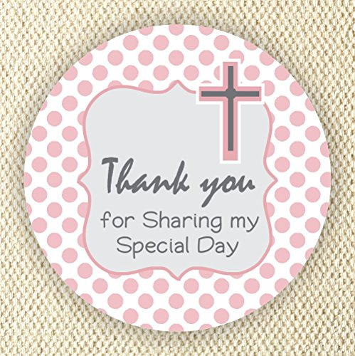 Baptism or Communion Stickers - Girls Baptism or Communion Stickers - Favor Labels - Set of 40 Labels from Philly Art & Crafts
