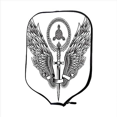 iPrint Funda de neopreno para pala de golf, decoración de tatuaje ...