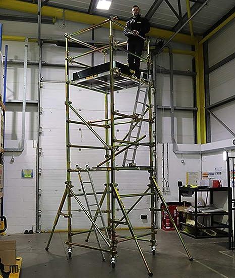 LOBO Gold – No requiere herramientas – Alternativa al andamio – Plataforma de acceso modular ajustable para torre Kit de iniciación – 4 m de altura de trabajo segura: Amazon.es: Industria, empresas y ciencia