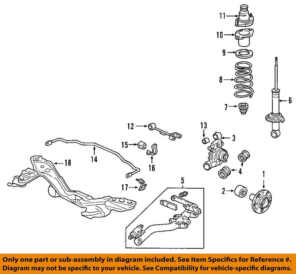 Genuine Honda 52441-SCV-A91 Rear Spring
