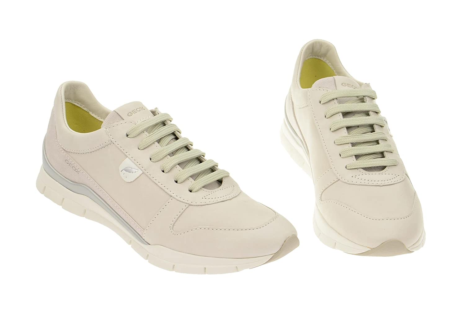 Geox Respira da Donna Sneakers, Bianco: Amazon.it: Scarpe e