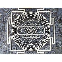 "Sri Yantra Mandala Sacred Geometry by Atman Das at ZenVizion. Laser Cut Wall Art Decor Meditation Symbol/Tool. Wealth, Good Fortune, Prosperity for Your Home/Temple. Awaken Consciousness (Birch)13.5"""