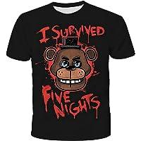 Jilijia Five Nights at Freddy's Kids - Camiseta de verano 3D para niños