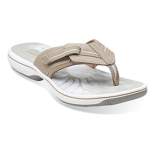 21215cd35138 Clarks Brinkley Jazz Womens Greystone Sandal 10-MEDIUM  Amazon.co.uk  Shoes    Bags