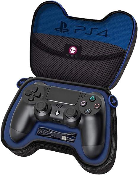 PS4 cáscara del caso del controlador y protectores del recorrido del cable lleva la caja y bolsa de almacenamiento: Amazon.es: Videojuegos