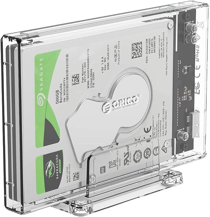 ORICO de Caja de Disco Duro Externo Transparente de 2,5 , USB ...