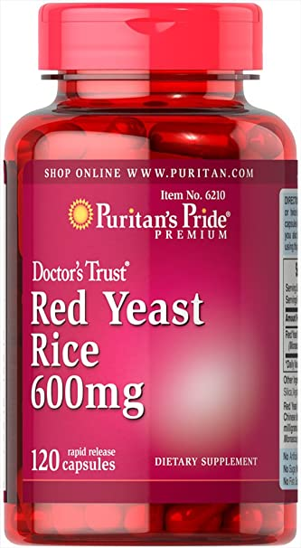 amazon com puritan s pride red yeast rice 600 mg 120 capsules