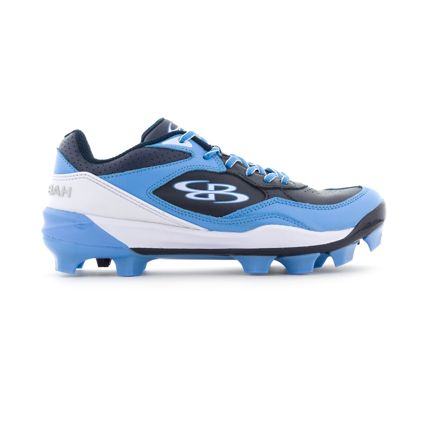Boombah Women's Endura Molded Cleats Navy/Columbia Blue - Size 9 by Boombah
