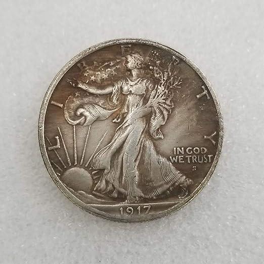 YunBest 1917 Moneda de Medio dólar de la Libertad Antigua – Moneda Conmemorativa Americana – Monedas Antiguas de los Estados Unidos – Original Pre Morgan sin circulación condición BestShop: Amazon.es: Hogar