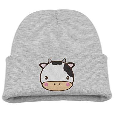 Amazon.com  GG-go Cow Kid s Hats Winter Funny Soft Knit Beanie Cap ... 50555f2fdbb