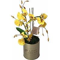 Flor Artificial Permanente Arranjo Orquídea Chuva de Ouro