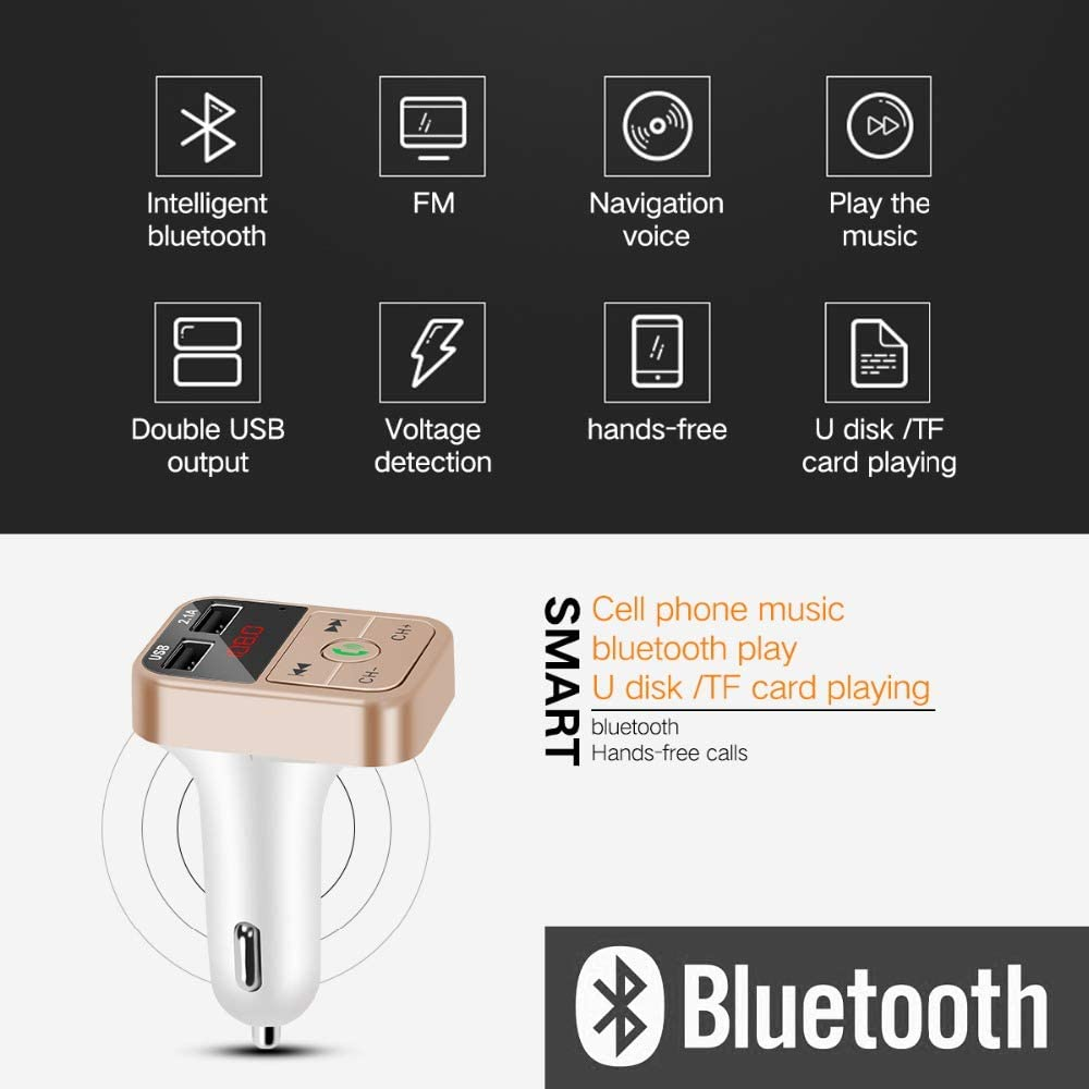 RONSHIN Electronics Accesories Car Kit Handsfree Wireless Bluetooth FM Transmitter LCD MP3 Player USB Charger Silver