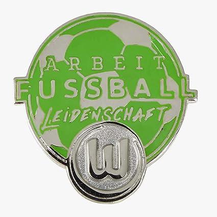 "VFL Wolfsburg Pin /""Arbeit-Fussball-Leidenschaft/"""