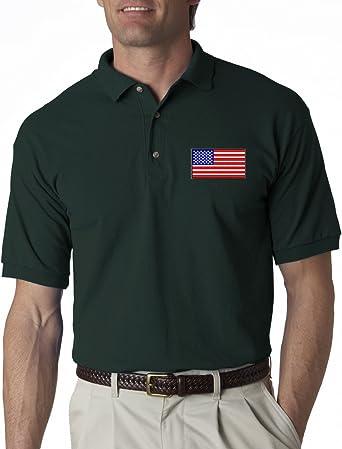 A2S addicted2shirts la Bandera Americana Pecho Logo Estados Unidos Pride Bordado Polo Camiseta S-3 XL 8 Colores