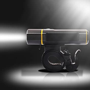 115g Luz ultra ligera-luces de bicicletas USB recargable luz de la ...