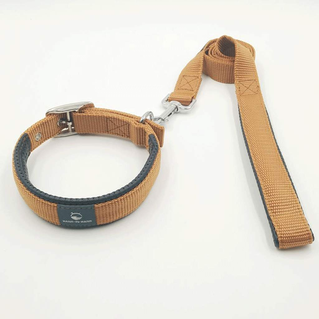 Brass L28 inchw2.5cm Brass L28 inchw2.5cm Nylon Ribbon Dog Leash,Multi-color Optional, Durable,Pet Supplies,Soft and Comfortable (color   Brass, Size   L28 inchw2.5cm)