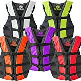 #9: Hardcore Water Sports High Visibility Coast Guard Approved Life Jackets for the Whole Family