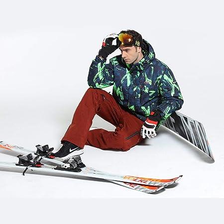 Camuflaje de Invierno Impreso Hombres Traje de esquí ...