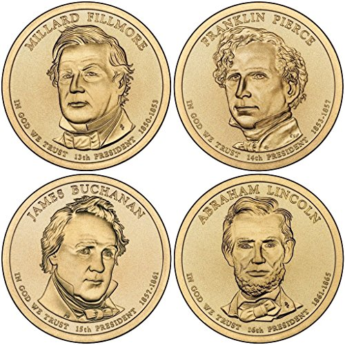 2010 Various Mint Marks Presidential Dollar 2010 P, D Presidential Dollar 8-Coin P & D Uncirculated Uncirculated