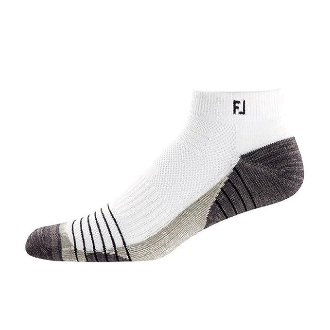Footjoy Tour Sport, Calcetines para Hombre, Blanco, (Tamaño del Fabricante:Unica
