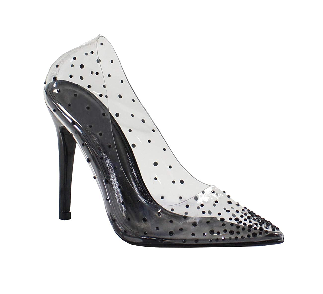 By Shoes Femme Escarpin Style Vernis Transparent Femme