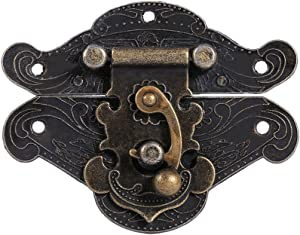 (Pack of 3) Antique Retro Vintage Decorative Latch Hasp Pad Chest Lock Plate for Wooden Jewelry Box Cabinet(6654mm/2.62.1in)