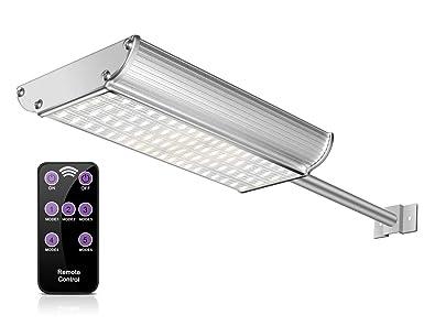 Echtpower 70 Led Solarleuchte Solarlampe Garten Bewegungsmelder Wand