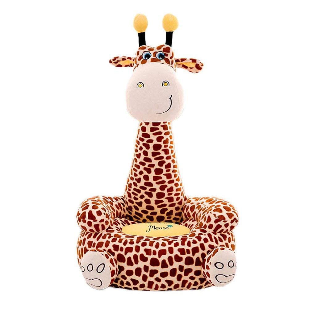 Eanpet Giraffe Baby Chairs Sofa Toddlers Siting Learning Seat Infant Plush Stuffed Animal Pillow Cushion Sofa for Kids 1-6 Years