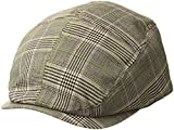 MG Men's Plaid Ivy Newsboy Cap Hat (Brown, Large)