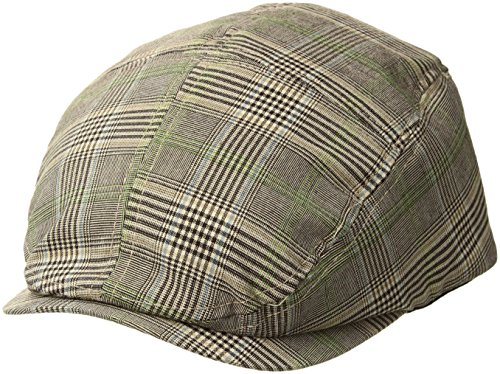 MG Men's Plaid Ivy Newsboy Cap Hat (Brown, - Wool Wigens