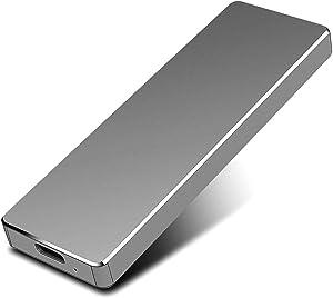 External Hard Drive Type C USB 2.0 Portable 1TB 2TB Hard Drive External HDD Compatible for Mac Laptop and PC(Black,2TB)
