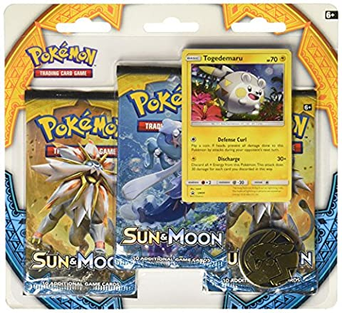TCG: Sun & Moon Three-Booster Blister Game - Special Attack Booster Pack