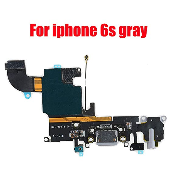 huge discount 2d02d 838b4 Afeax Compatible with OEM Original USB Charging Port Dock Connector Flex  Cable + Microphone + Headphone Audio Jack Replacement Part for iPhone 6S  4.7