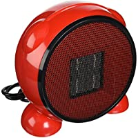 E-Joy Ceramic Portable Personal Electric Space Heater 500 Watt, Red
