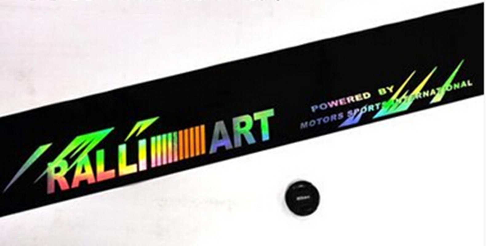EDTara Sticker,Decoration,Colorful Reflective Decals Car Stickers Styling Front Windshield Decal