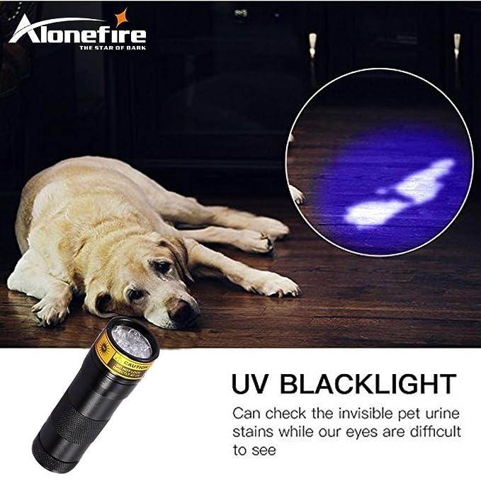 Lovely Alonefire 12 Led 395nm Ultra Violet Flash Light Cat Dog Pet Urine Money Hotel Uv Detector Mini Flashlight Travel Lamp Aa Battery Discounts Price Lights & Lighting