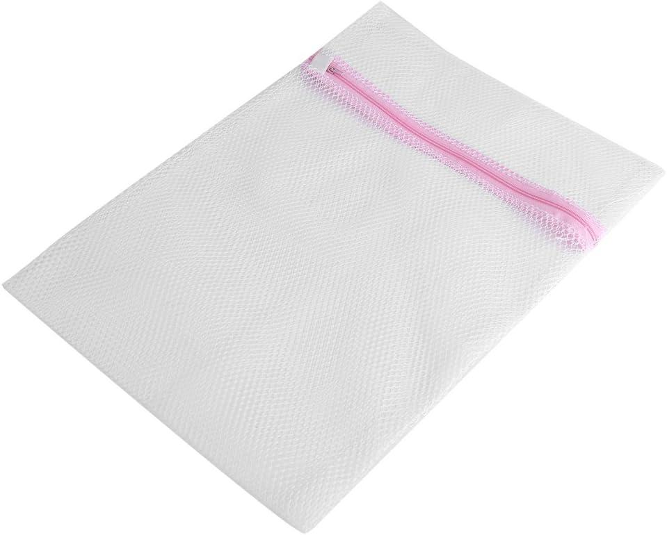 GLOGLOW 4PCS Zipped Lingerie Washing Bag Laundry Machine Mesh Clothes Socks Bra Underwear Bags (Coarse Mesh5060cm)
