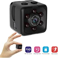 Mini Surveillance Camera - Tiny 1 Cubic Inch 1080p Hd Wide Angle Home Security Camera with Motion Detection and Night Vision - Nanny Cam, Cop Cam, Body Cams - Indoor and Outdoor Use