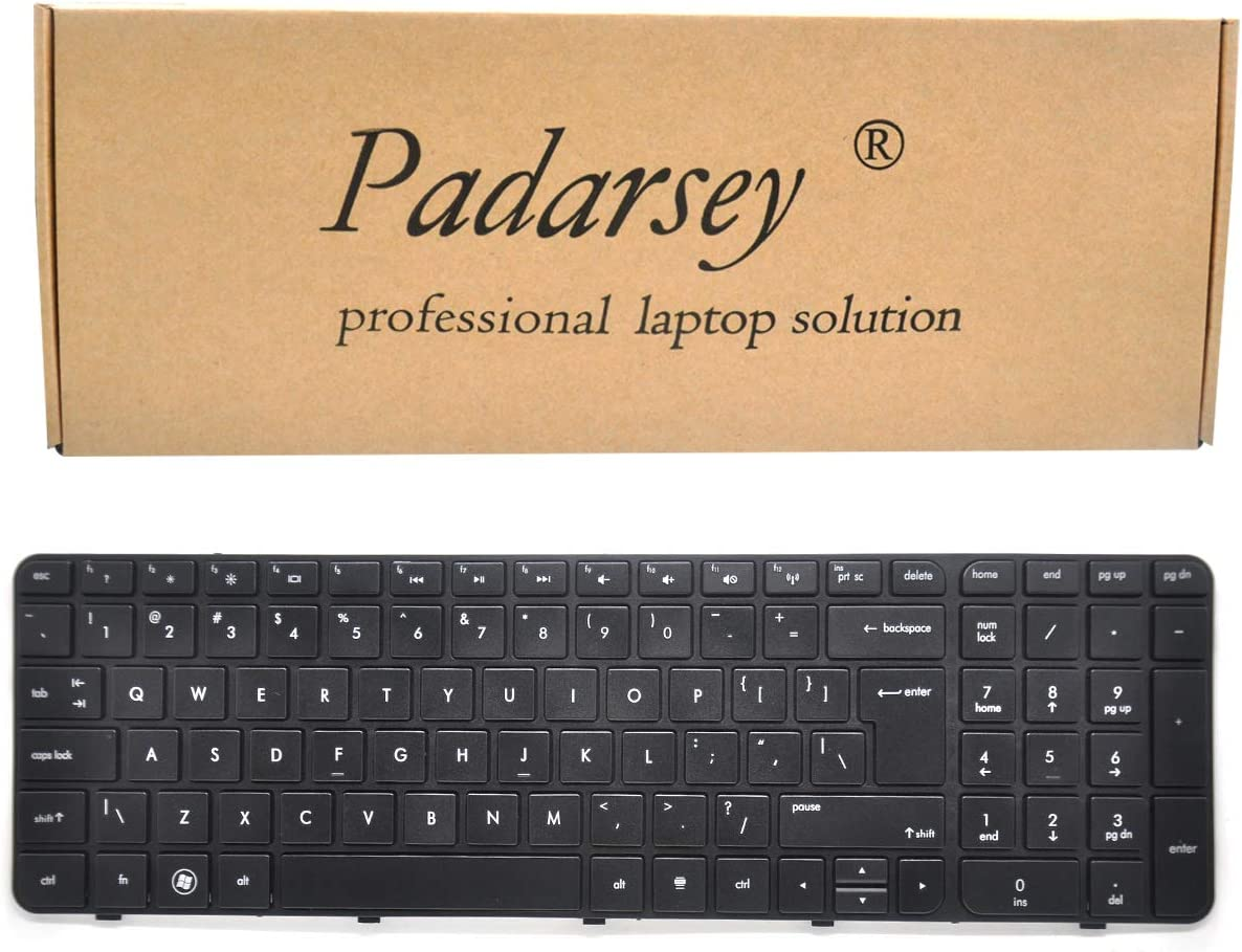 Padarsey Replacement Keyboard with Frame for HP Pavilion G7-2000 G7-2100 G7-2200 G7-2300 G7Z-2000 G7Z-2100 G7Z-2200 G7Z-2300 G7Z-2400 (CTO) R39 Serise Black US Layout