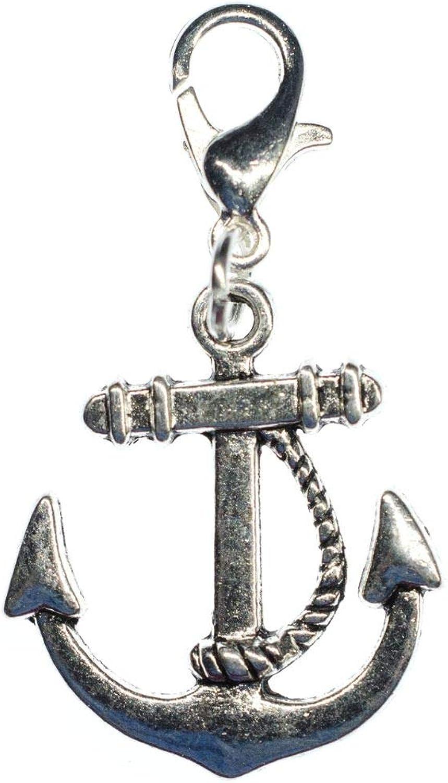 Miniblings Anker mit Seil Schiff Charm Handmade