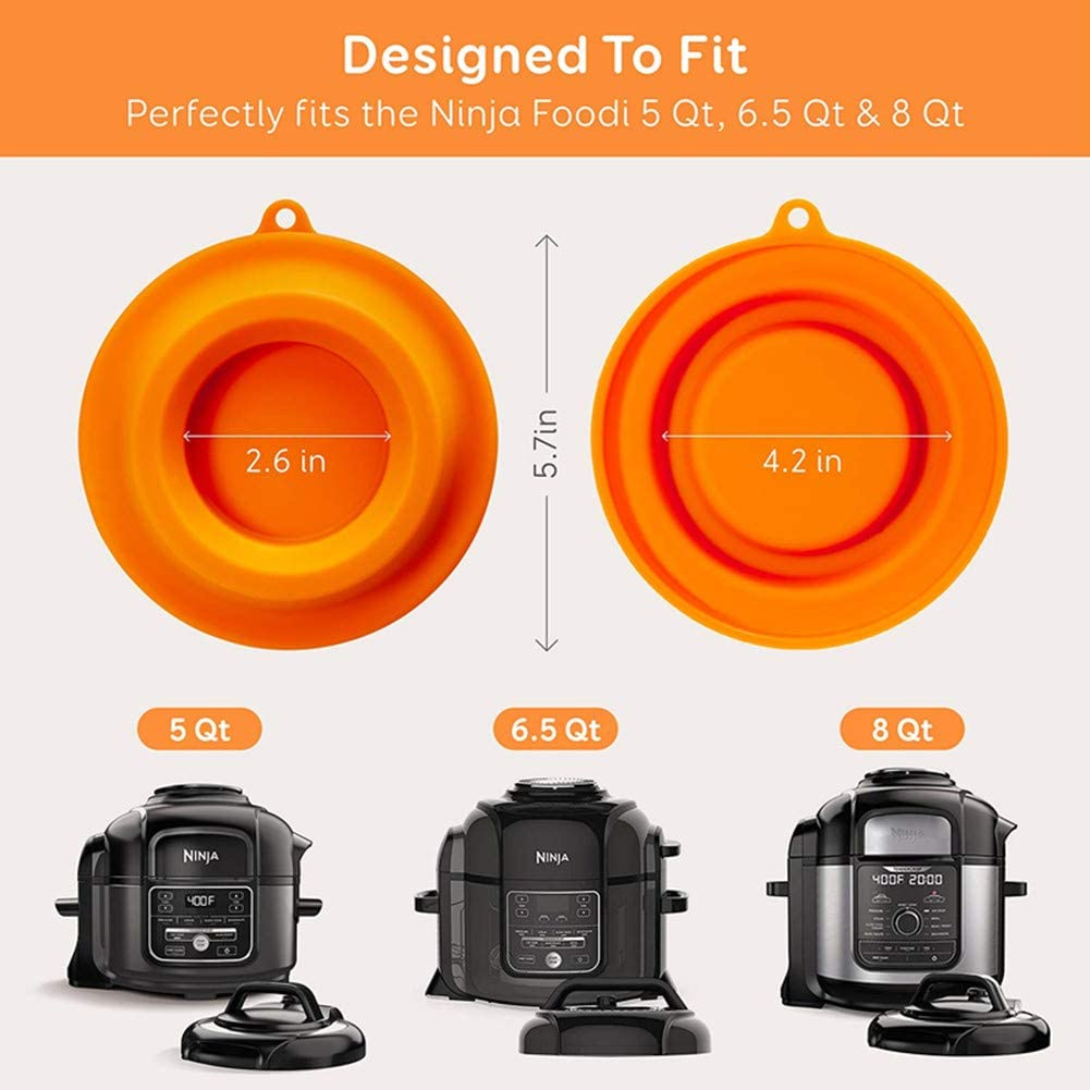 Black 6.5 Qt and 8 Quart VANUODA 2020 Updated Pot Lid Stand Silicone Lid Holder Accessories Compatible with Ninja Foodi Pressure Cooker and Air Fryer 5 Qt