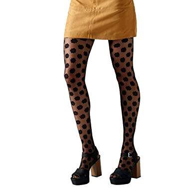 0d743f5d2e995 Gipsy All Over Daisy Black Fashion Tights: Amazon.co.uk: Clothing