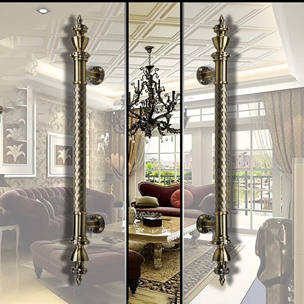 Yjie - Manija de Puerta de Acero Inoxidable con Mango de Cristal para Hotel, KTV, Puerta corredera y empotrada (Color Bronce), B, 38×800mm: Amazon.es: Hogar