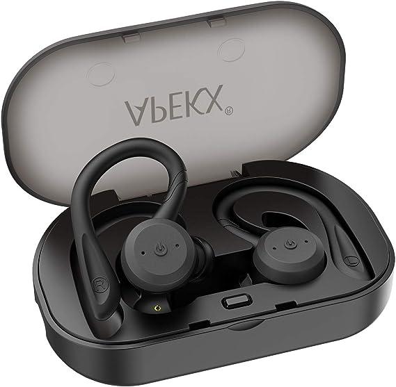 Wireless Headphones APEKX True Wireless Bluetooth 5.0 Sports Earbuds