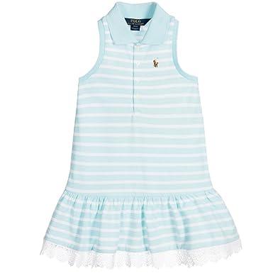 Ralph Lauren Polo de niñas sin mangas encaje dobladillo vestido ...