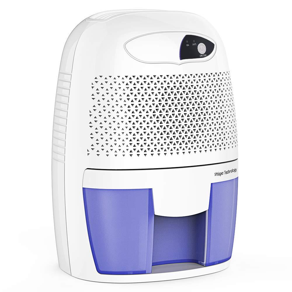 Hysure Quiet and Portable Dehumidifier Electric Deshumidificador, Home Dehumidifier for Bathroom, Crawl Space, Bedroom, RV, Baby Room by Hysure