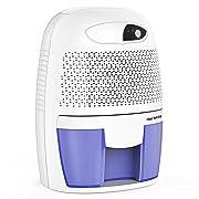 Hysure Portable Mini Dehumidifier Air Purifier 2200 Cubic Feet Electric Safe Dehumidifier for Bedroom Home Crawl Space Bathroo RV Baby Room White