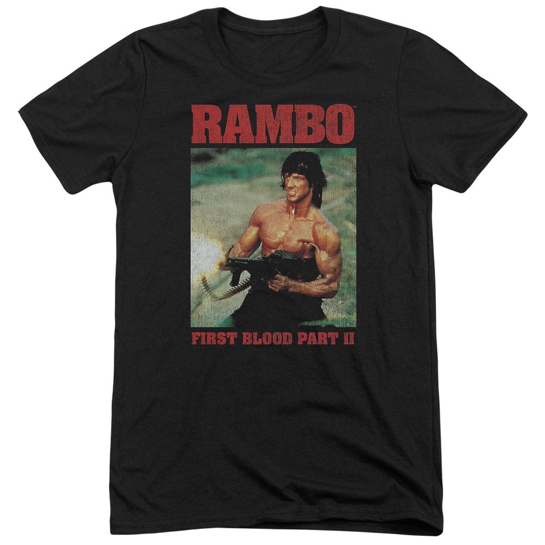 Rambo:First Blood II Men's Dropping Shells Tri-Blend T-Shirt