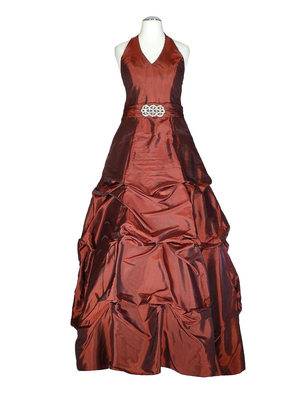 Samtlebe® - Neckholder Abendkleid elegant lang C647, Taft ...