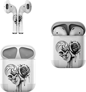 product image for Skin Decals for Apple AirPods - Amour Noir - Sticker Wrap Fits 1st and 2nd Generation